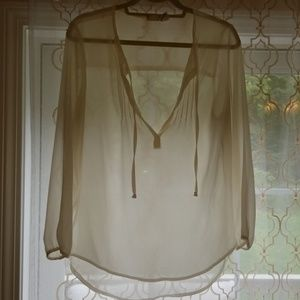 Sheer Ivory Blouse
